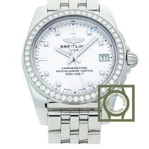 Breitling Galactic 36 Mother Of Pearl Dial Diamonds Full Steel...