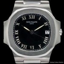 Patek Philippe Ref# 3800/1 Nautilus Steel Black Roman Dial,...