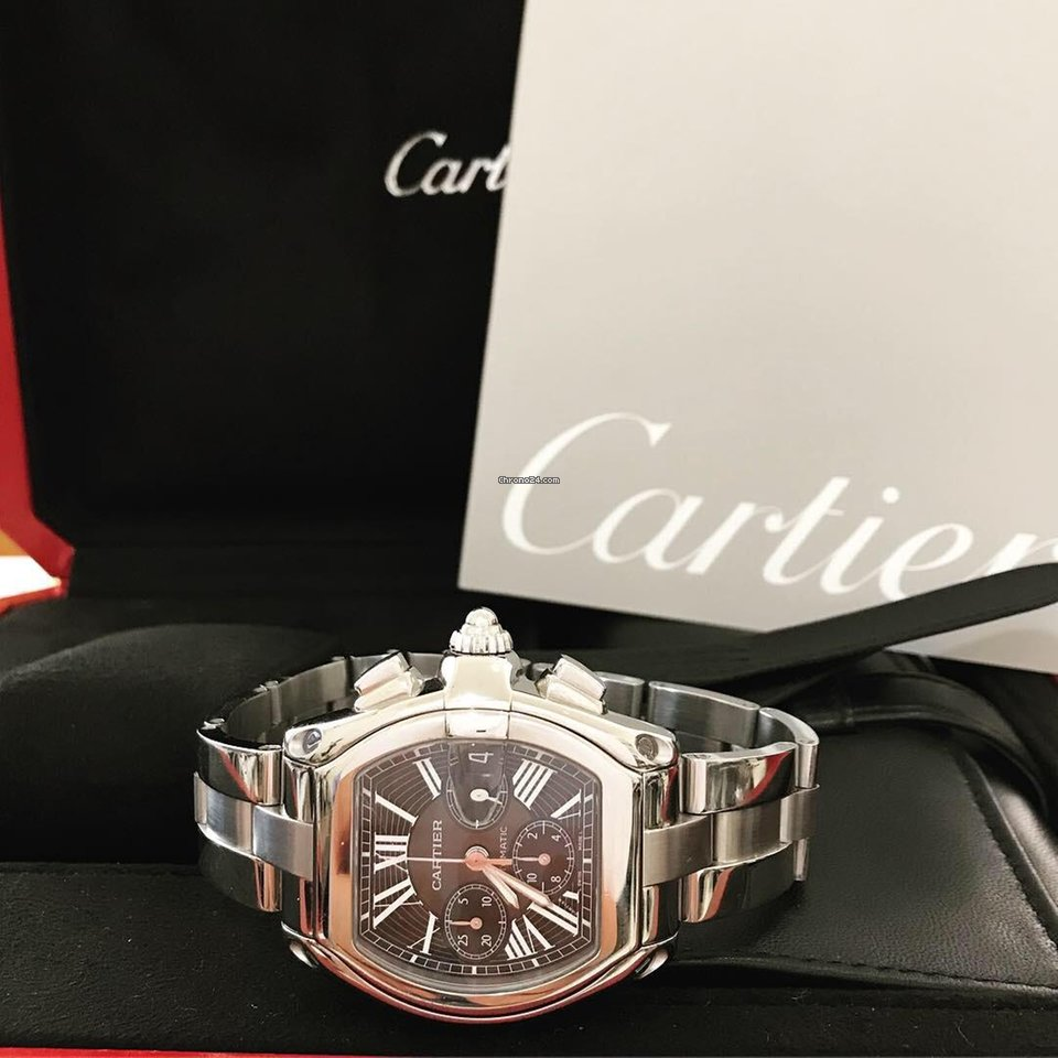77c1ca0b37a Cartier Roadster Chronograph XL - 2 pulseiras Completo for C  6