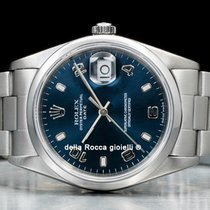 Rolex Oyster Perpetual Date Acero 34mm Azul Arábigos