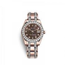 Rolex nuevo Automático 34mm Oro rosado Cristal de zafiro