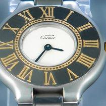Cartier 21 Must de Cartier Or/Acier 28mm Blanc Sans chiffres