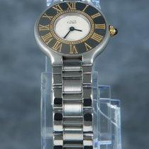 Cartier 21 Must de Cartier Zlato/Zeljezo 28mm Bjel Bez brojeva