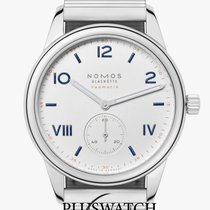 NOMOS Club Campus Neomatik Staal 39mm Wit Arabisch
