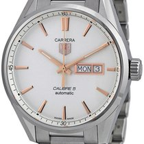 TAG Heuer Carrera Calibre 5 Steel 41mm Silver No numerals
