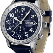 Zeno-Watch Basel Acier 44mm Remontage automatique P557TVDD-bk-b4 nouveau