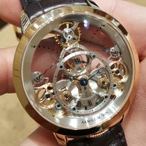 Arnold & Son Time Pyramid Red gold 44.6mm Transparent Roman numerals