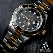 Rolex Men's Submariner 40mm 18k & Steel Black Index Dial Watch