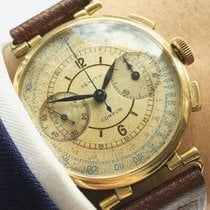 Zenith VINTAGE GOLD SOLID SECTOR SEKTOR DIAL RARE MULTICOLOR SUPERRARE CHRONOGRAPH 1930 pre-owned