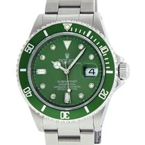 勞力士 Rolex Stainless Steel Submariner 16610 MOP Green Diamond