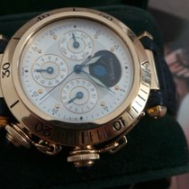 Cartier Pasha 0985 18K Yellow Gold Automatic