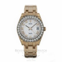 Rolex Datejust Pearlmaster Diamond Bezel Pave Diamond Dial