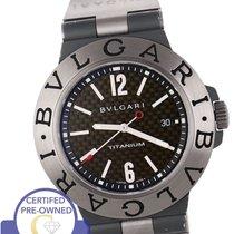Bulgari TI 44 TA Titanium Automatic Tang Buckle Watch Two...