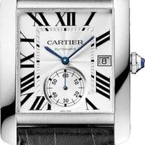 Cartier Steel Automatic Silver Roman numerals 34.3mm new Tank MC