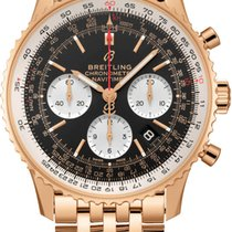 Breitling Rose gold Automatic Black 43mm new Navitimer 1 B01 Chronograph 43