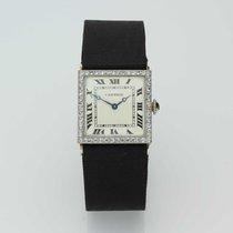 Cartier Platino Cuerda manual 20mm 1920