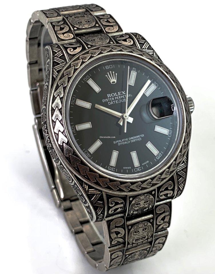 Rolex Datejust 2 MAORI Engraved Graviert Mãori Style