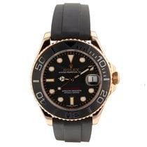 Rolex Yacht-Master 37 Rose gold Black
