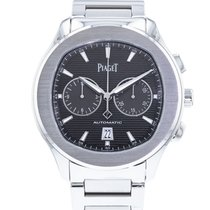 Piaget Polo S pre-owned 42mm Grey Chronograph Date Steel