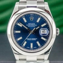 Rolex Datejust II pre-owned 41mm Blue Date Steel