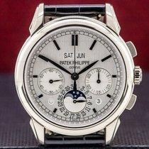 Patek Philippe Perpetual Calendar Chronograph White gold 41mm Silver