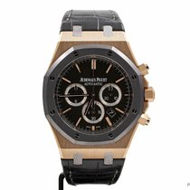 Audemars Piguet Royal Oak Chronograph Rose gold 41mm Black No numerals