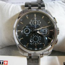 Tissot Silver Automatic Black No numerals 43mm pre-owned Couturier