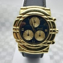 Piaget Tanagra Yellow gold 33mm Blue Roman numerals