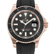 Rolex Red gold Automatic Black No numerals new Yacht-Master 40