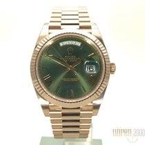 Ρολεξ (Rolex) Rolex Day-Date 40 18 kt Everose-Gold Olivgrün R