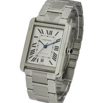 Cartier W5200028 Tank Solo XL in Steel - on Steel Bracelet...