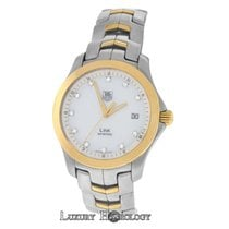 TAG Heuer Men's  r Link WJF1153 Date Steel 18K Gold...