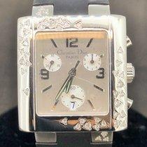 Dior Riva Chronograph, Diamonds, Steel, Quartz, Date, 31MM - MINT