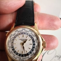 Patek Philippe World Time occasion 37mm GMT Cuir