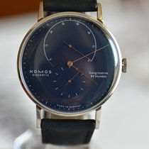 NOMOS Lambda pre-owned 42mm Blue Leather