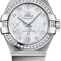 Omega Constellation Petite Seconde Steel 27mm Mother of pearl No numerals