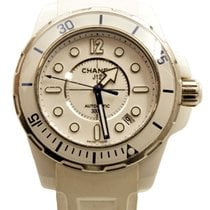 a09ae5a9fd1 Chanel J12 occasion 38mm Blanc Date Céramique. Chanel J12