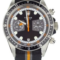Tudor Heritage Chrono pre-owned 42mm Black Chronograph Date Textile