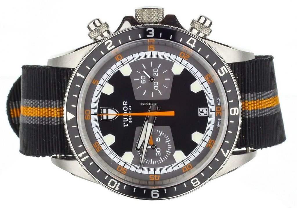 a2b75ca8f Tudor Heritage Chronograph Black/ Orange on Nato m70330n-0004 for AU$ 5,504  for sale from a Trusted Seller on Chrono24