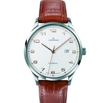 Junghans Attaché Steel 42mm Silver Arabic numerals