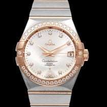 Omega Constellation Men Or rouge 38mm Argent