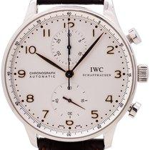 IWC Portuguese Chronograph Stål 41mm Silver Arabiska