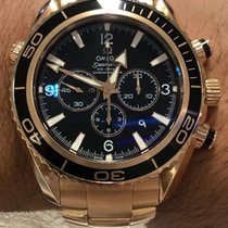 Omega Seamaster Planet Ocean Chronograph Rose gold 45mm Black No numerals
