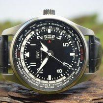 IWC Pilot Worldtimer Сталь 45mm Чёрный