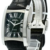 Ebel Brasilia pre-owned 32.5mm Black Date Leather