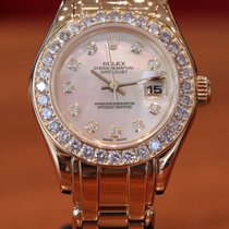 Rolex Lady-Datejust Pearlmaster Geelgoud