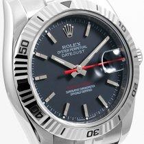 勞力士 (Rolex) Mens SS 36mm Turn-O-Graph Datejust - Black Dial -...