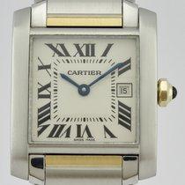 Cartier Tank Française Gold/Steel 25mm White Roman numerals