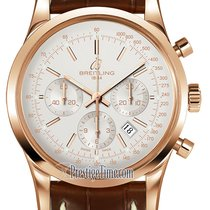Breitling Transocean Chronograph Rose gold 43mm Silver United States of America, New York, Airmont