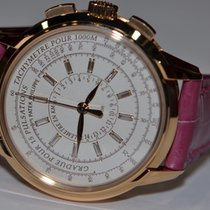 Patek Philippe Chronograph Rose gold 37mm White No numerals United States of America, New York, Greenvale